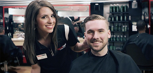 Sport Clips Haircuts of Overland Station​ stylist hair cut
